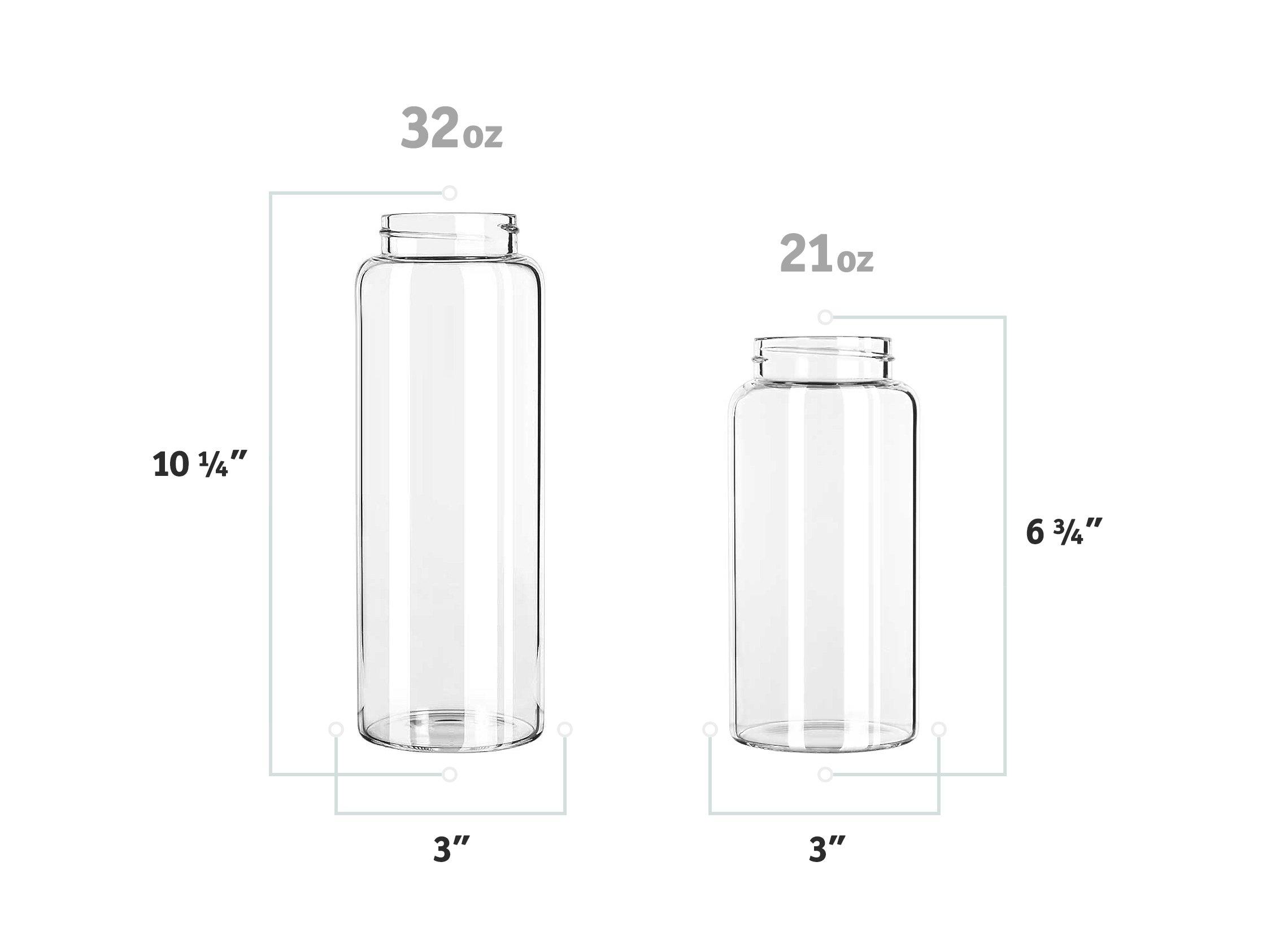 Kablo Glass Water Bottle 32 oz, 100% Borosilicate Glass by Kablo (Image #2)
