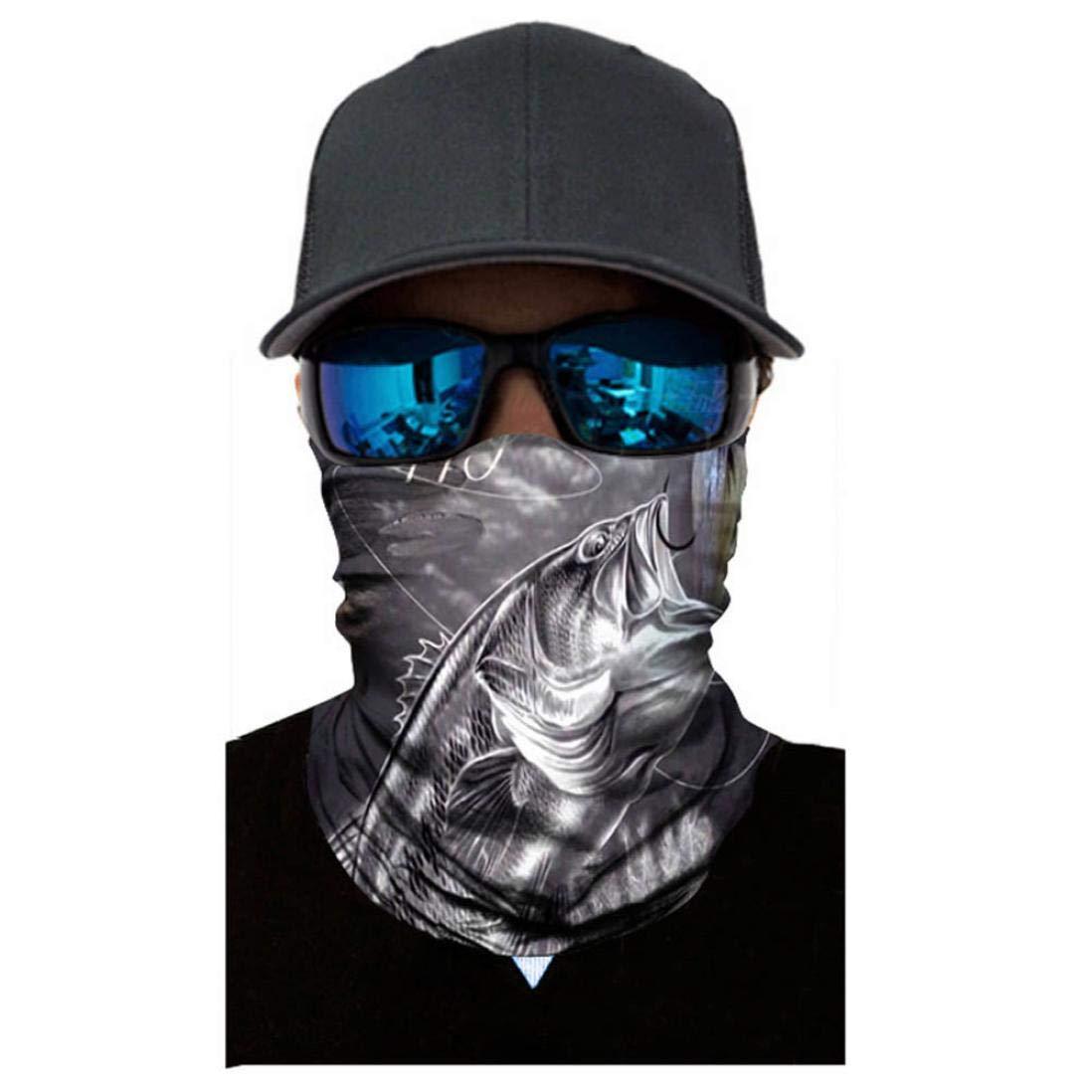 Unisex uomo donna equitazione antivento maschera, Mamum neutro esterni testa sciarpa collo antivento maschera di protezione solare con fascia taglia unica E