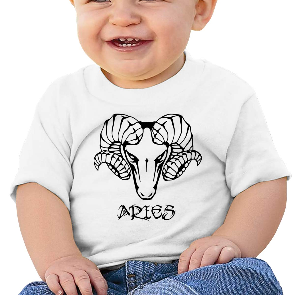 Qiop Nee Black Aries Short-Sleeves T-Shirts Baby Girls