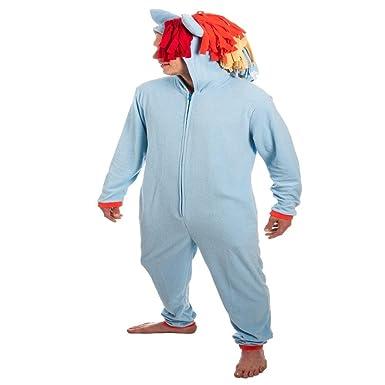 Rainbow Dash My Little Pony Adult Union Suit Onepiece Pajamas Costume S/M (blue)