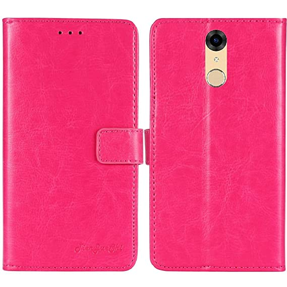 sale retailer dc16f 7d1be TienJueShi Rosa Book-Style Flip Leather Protector Case Cover Skin Etui  Wallet for BLU Studio View XL S790Q 5.7 inch
