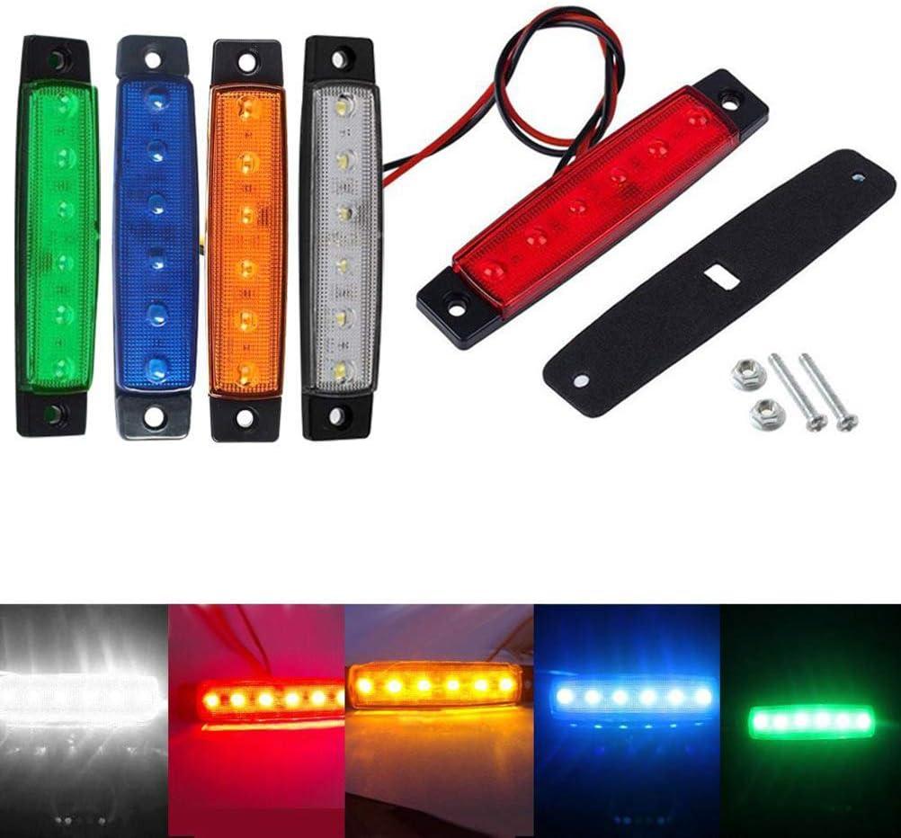 Verde Clispeed 6 LED Trail Light Sostituzione Luce di Tronco Principale Indicatore di direzione Braker Fanale Posteriore 12V
