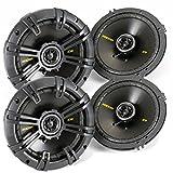 Kicker 40CS654 6.5-Inch 600W 2-Way Coaxial CS Series Speakers (4 Pack)