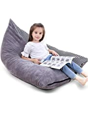 Bchway Large Stuffed Animal Storage Bean Bag Chair Animals Toy Organizer Bags Stuffied Seat with Extra Long Zipper Carrying Handle Excellent Solution for Toys and Clothes Available for Boys and Girls