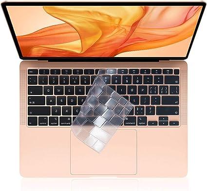 EooCoo Cubierta del Teclado Compatible para 2020 MacBook Air 13 Pulgadas A2337 A2179 con Pantalla Retina y Touch ID, QWERTY Español Diseño - TPU Claro