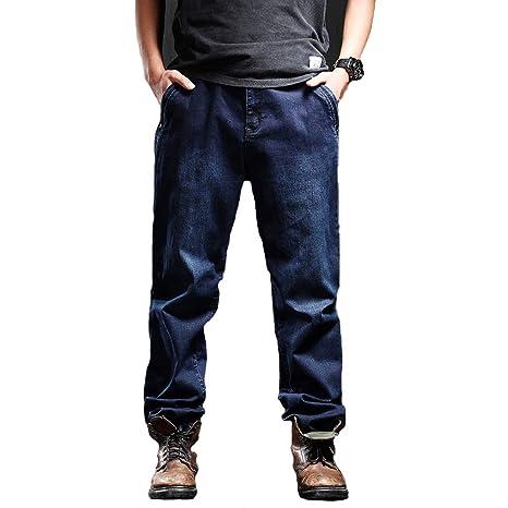 LJHA Vaqueros Pantalones Vaqueros, Pantalones de Gran tamaño ...