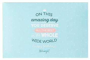 Amazon.com: Mr.Wonderful Album-On This Amazing Day You ...