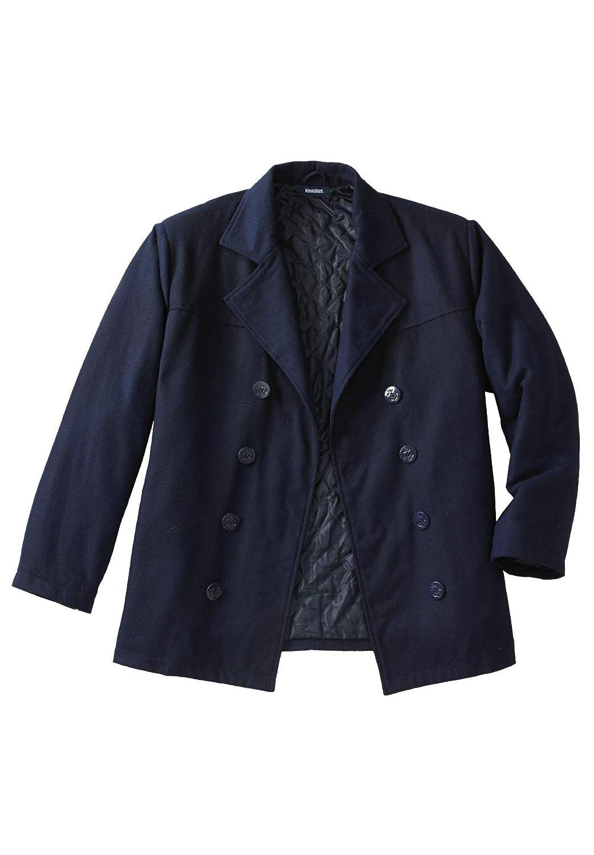 KingSize Men's Big & Tall Wool Peacoat, Black Big-7Xl 31035621041mk7XL~7XL