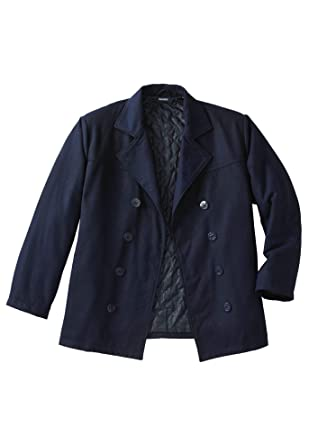 1f971b16f65 KingSize Men s Big   Tall Wool Peacoat at Amazon Men s Clothing store