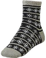 Yaktrax Women's Cozy Cabin Socks Black Cream