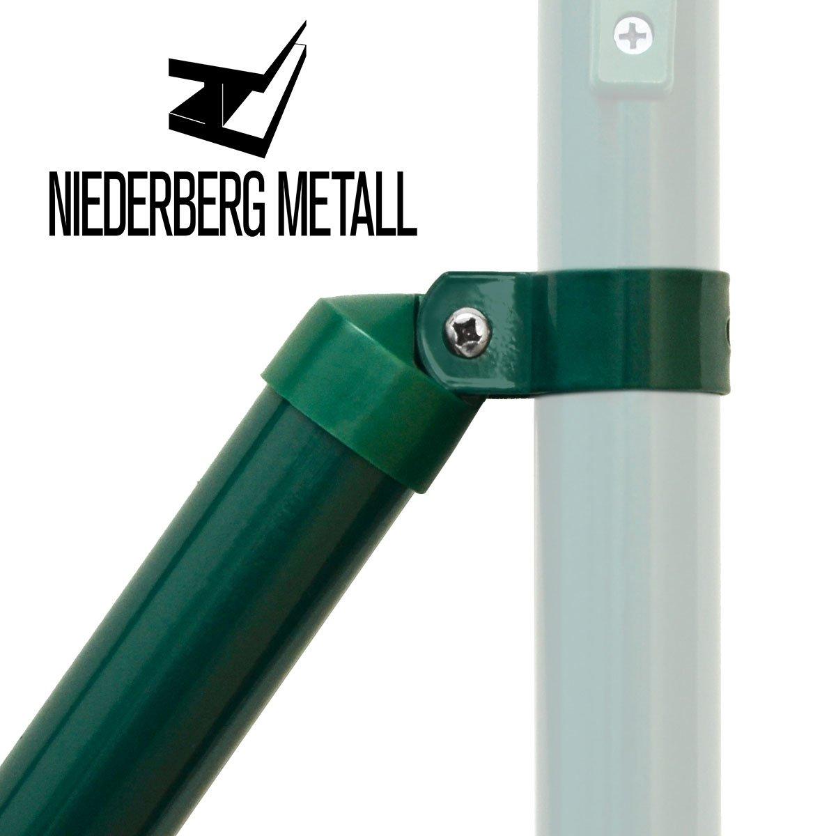 NIEDERBERG METALL Zaunstrebe 130 cm Stützstrebe ˜ 34 mm Gartenzaun
