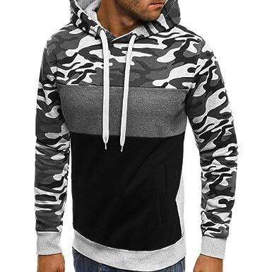 Camuflaje para Hombre Talla Grande Pullover Sudadera con Capucha de Manga Larga Tops Blusa de Internet.: Amazon.es: Ropa y accesorios