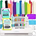 Silhouette Cameo 3 Bluetooth Bundle with 12x12 Inch Oracal 651 Vinyl, 24 Sketch Pens, Guide Books, Online Class, and More by Silhouette America