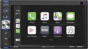 BOSS Audio Systems BCP62 Apple CarPlay Car Multimedia Player - Double Din, 6.2 Inch Capacitive Touchscreen, Bluetooth, USB, No DVD, Multi-Color Illumination