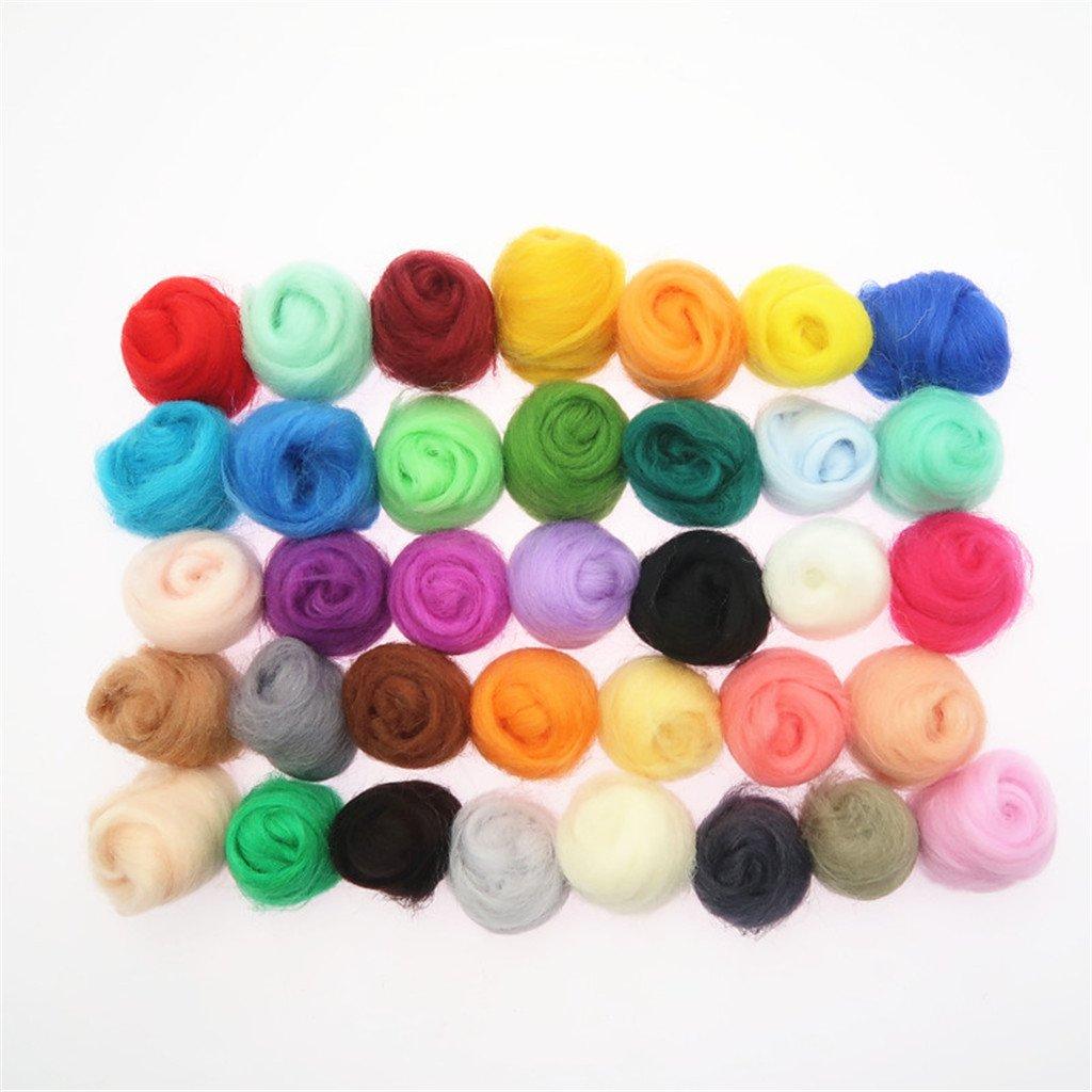 36 Colors Wool Felt 7Pcs Needle Felting Needles DIY Tools Craft Felt Starter Kit