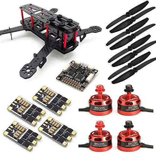 SpeedyFPV ZMR250 FPV Racing Drone Kit with F3 Flight Controller, 2205 Motors, 30A ESC 2-4S
