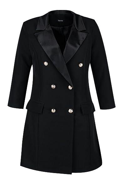 Boohoo Womens Plus Size Lauren Button Tuxedo Dress At Amazon Womens