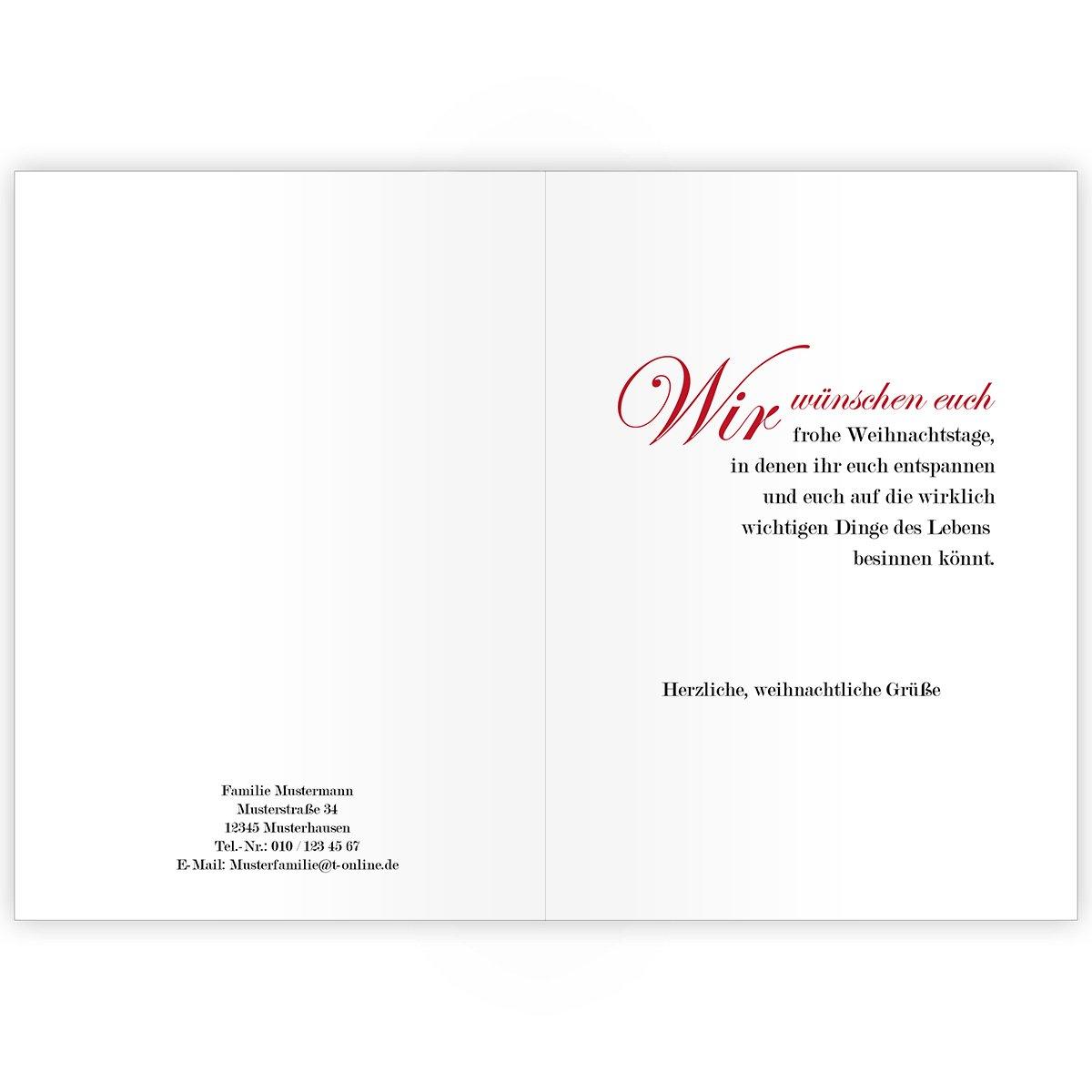 100er Weihnachtskarten Set Edle Unternehmen Weihnachtskarten mit einem einem einem Sprung Rehe, innen blanko  weiß als geschäftliche Weihnachtsgrüße   Glückwunsch zu Neujahr   Weihnachtskarte an Firmenkunden, Geschäftspartner, Mitarbei 8eff17