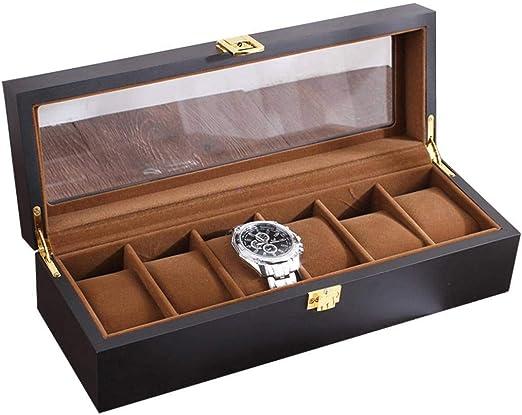 GOVD Caja Relojes 6 de Reloje Hombre Caja Joyero Madera ...