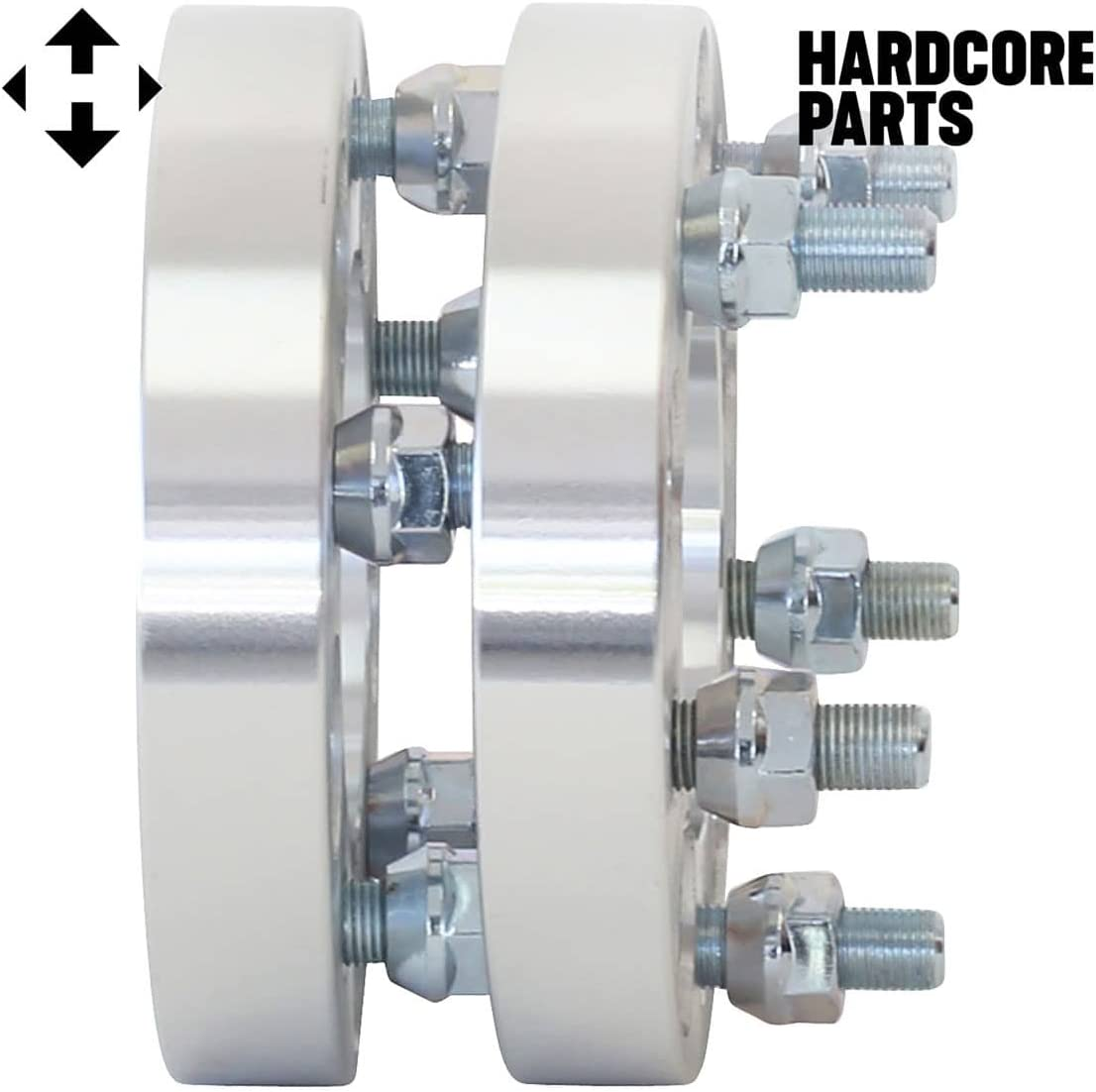 fits all 5x4.5 vehicle to 5x4.5 wheel bolt patterns with 1//2-RH threads 1.5 inch Per Side 2 QTY Wheel Spacers Adapters 3