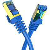 CAT8 Ethernet Cable Veetop 40Gbps 2000Mhz High Speed Gigabit SFTP LAN Network Internet Cables with RJ45 Gold Plated Connector for Router, Modem, Gaming, Xbox 3FT/3 Pack blue