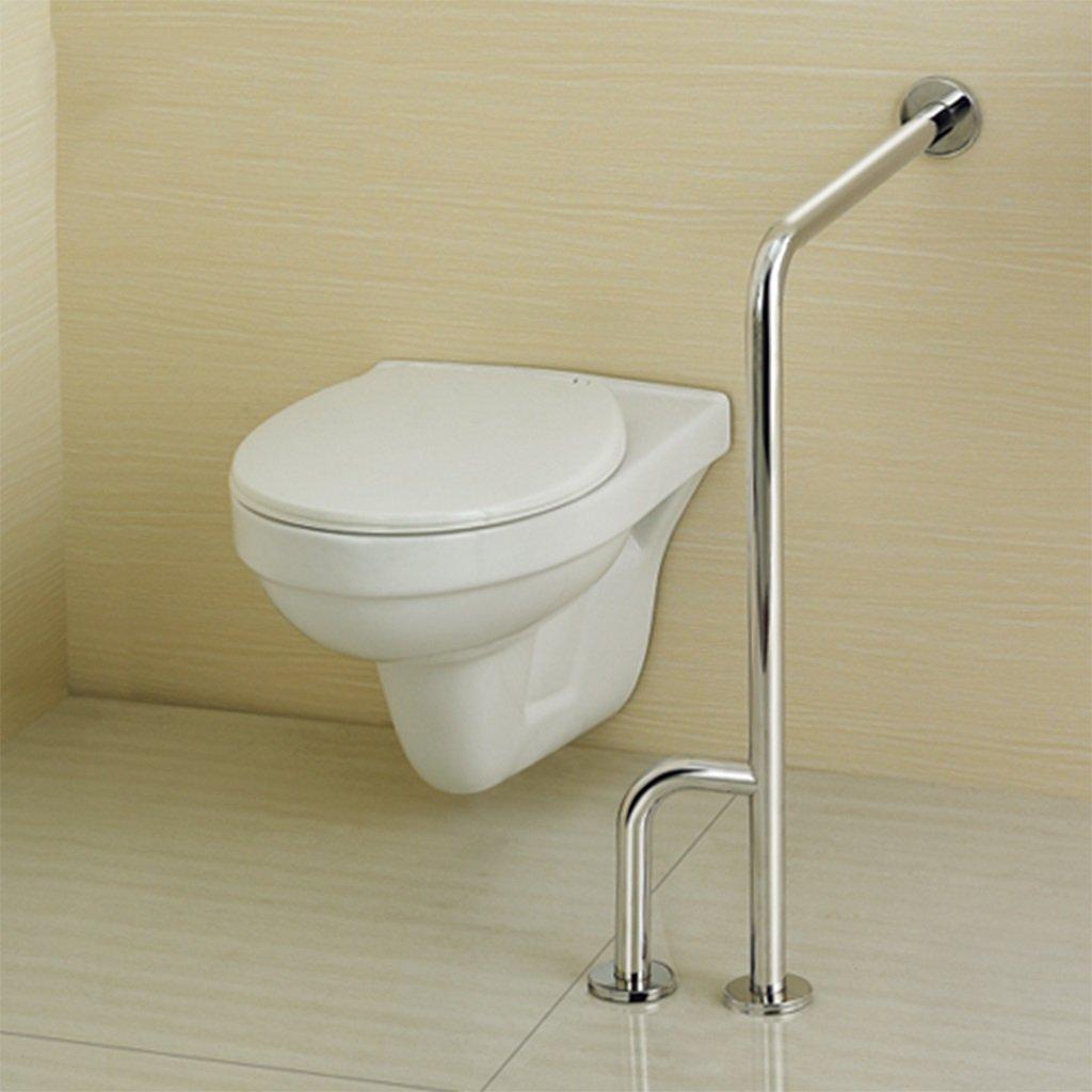 BSNOWF ステンレス製の床の手すりのバスルームの安全な手すりのトイレトイレトイレのH型のフェンス B07BKYQ6D4