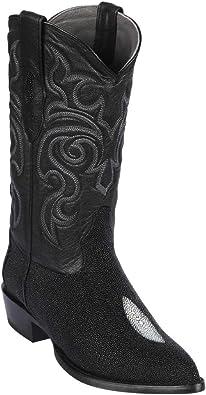 Los Altos Men/'s Wide Square Toe Stingray Leather Cowboy Western Boots