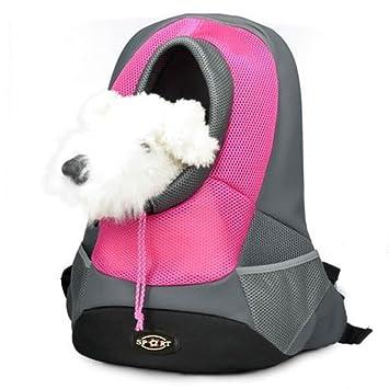 Yihya Portátil Pecho Delantero Pet Carrier Bag Bolso Hombros de Malla Bolsa Pequeña Perro Gato Perrito