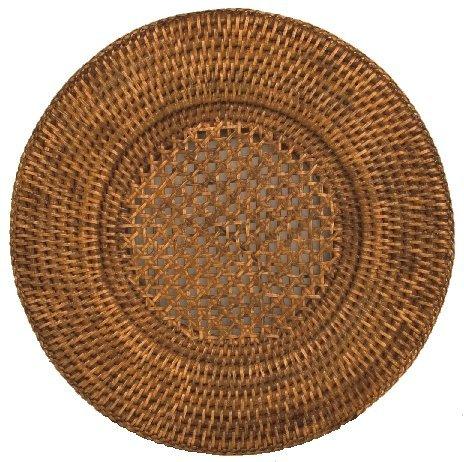 Round PlacematsまたはChargersラタンウィッカーのセット4 Placeマットラウンド12インチ   B076DKQL33