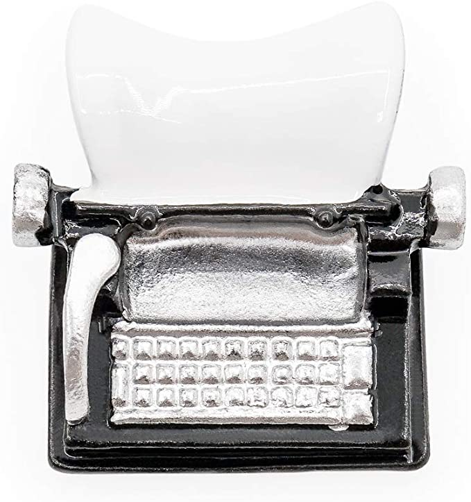 Dollhouse Miniature Manual Typewriter Vintage Style Black 1:12 Scale Accessories