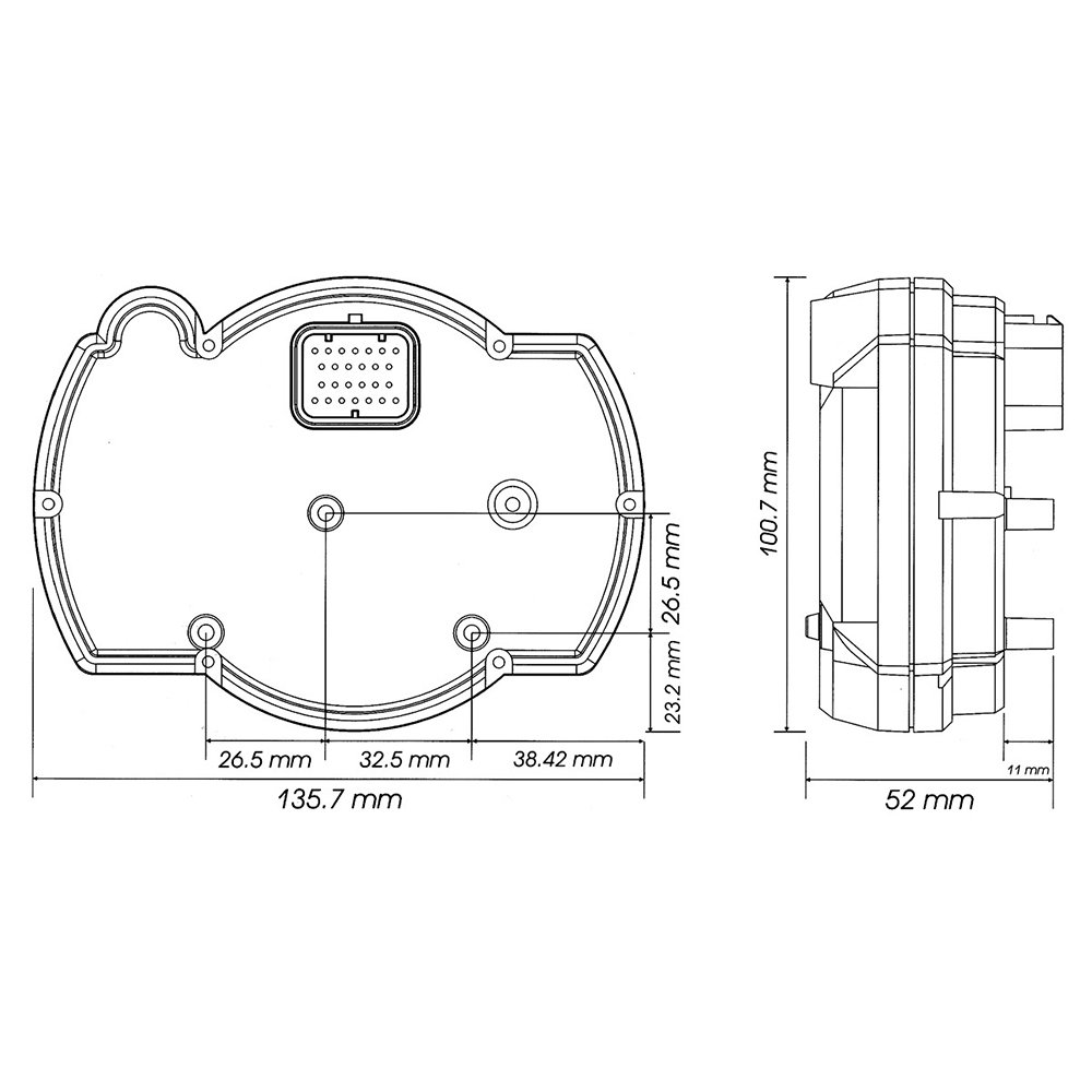 Koso BA015000 RX-2NR GP Style Tachometer 16 000 RPM