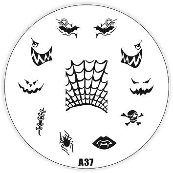 Halloween Stamping Schablone A37 - Kürbis Dracula Totenkopf ...