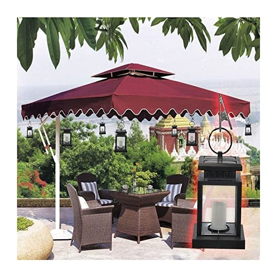 """AMEI Solar Lantern, Solar LED Deck Light, Outdoor Hanging Solar Garden Light, Patio Lanterns, Yard Decorations,Hanging Solar Lantern with Clamp for Patio Umbrella Deck Lighting & Decoration (2 Pack) - Small & Portable - 3.5"""" x 3.5"""" x 4.9"""", with a metal clamp and ring, you can change lighting place to yard garden lawn patio umbrella outdoor anywhere you can hang. Energy-Saving & Auto On-OFF - Powered by solar, you just need take this led lantern under direct sunshine 4-6 hours, the included rechargeable battery will storage plenty of energy to light dusk to dawn with Auto on-off. No added electricity fee or battery cost. High Quality Made, long service life, no UV or IR, environmental friendly.4 to 5 hours of sunlight at day time provides 6 to 9 hours brightness at night. - patio, outdoor-lights, outdoor-decor - 61DiBtnvz L. SS570  -"""
