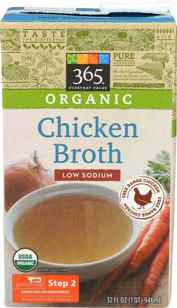 Amazon 365 Everyday Value Organic Low Sodium Chicken Broth