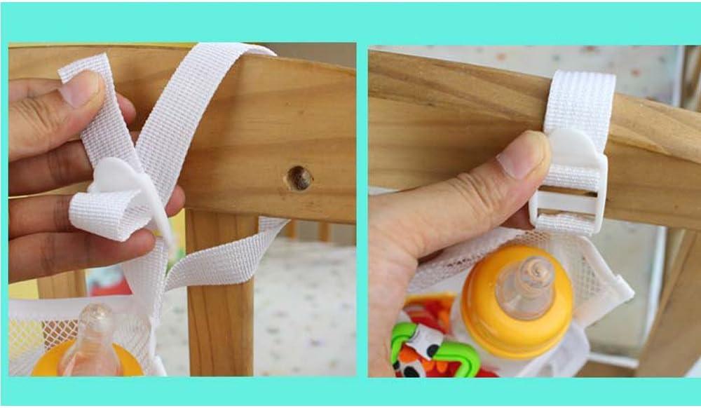 DecentGadget/® Baby Nursery Organizer Hanging Organizer for Bed Diaper Organizer With Large Pockets Rhombic-Shaped Grid Breathable 50*60 CM////Organiseur Sac de Rangement du Lit Sac /à Couches Suspendre Organisateur pour B/éb/é Chambre