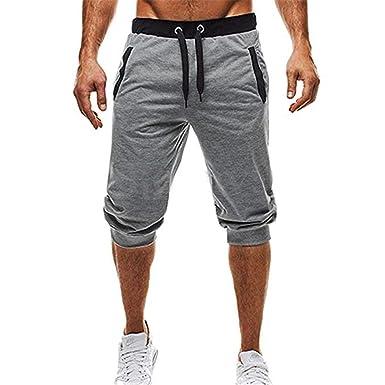 Pantalones De Verano De Chándal para Hombre Pantalones Elásticos ...