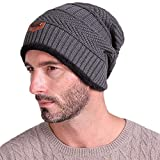 FSZ Men's Winter Warm Hat Outdoor Sport Beanie(Gray)