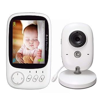 Wireless Babyphone mit Kamera Farbe Video 3.2/'/' Monitor Nachtsicht Babypflege