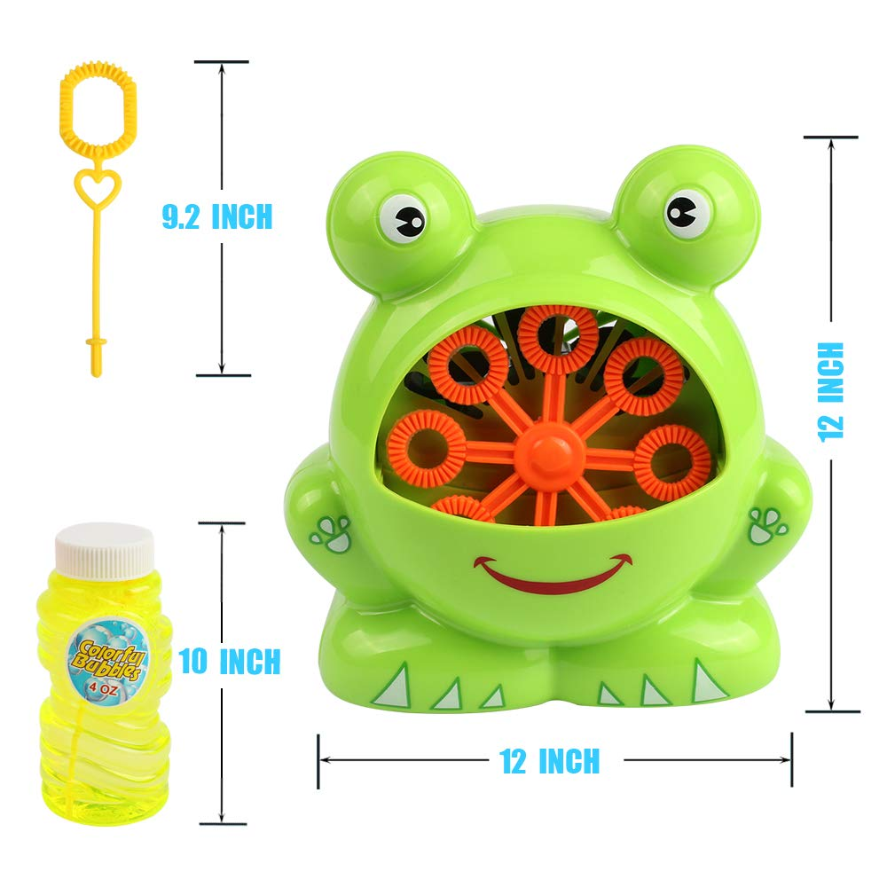 Automatic Frog Bubble Blower Machine Make Bubbles for Kids Birthday Party, Wedding, Indoor and Outdoor Games by Kidcheer (Image #5)