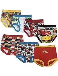Boys' Toddler Cars 3pk Training Pants & 4pk Briefs