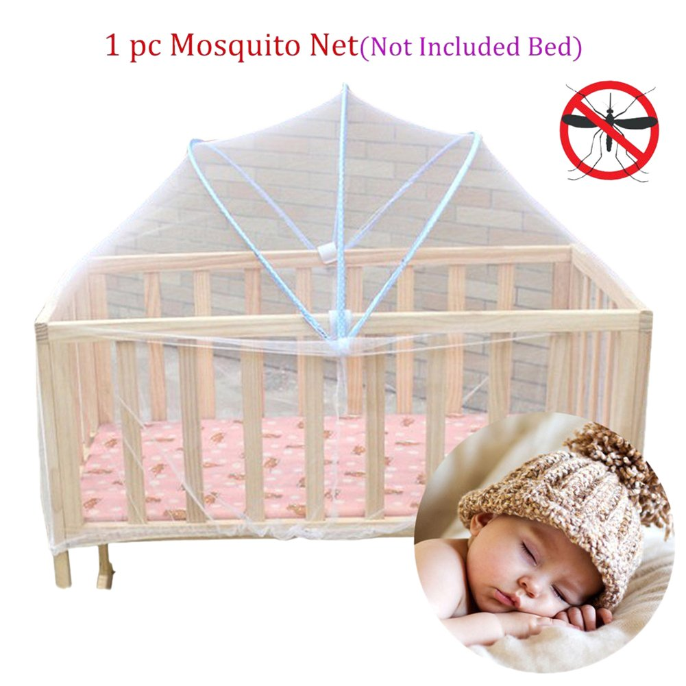 Gracefulvara Baby Toddlers Cradle Bed Canopy Mosquito Net Crib Cot Netting Geen-Coller