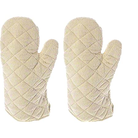 Update International Terry Cloth Oven Mitt Heat Resistant to 600° F