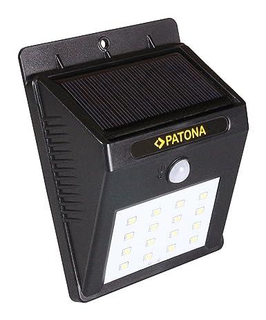 Patona Solar lámpara de pared Lámpara Luz Pared Luz Día Noche Sensor Detector de movimiento 16