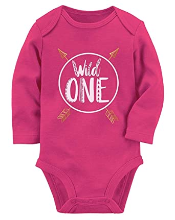 Amazon Wild One Baby Boys Girls 1st Birthday Gifts Year Old Long Sleeve Bodysuit Clothing