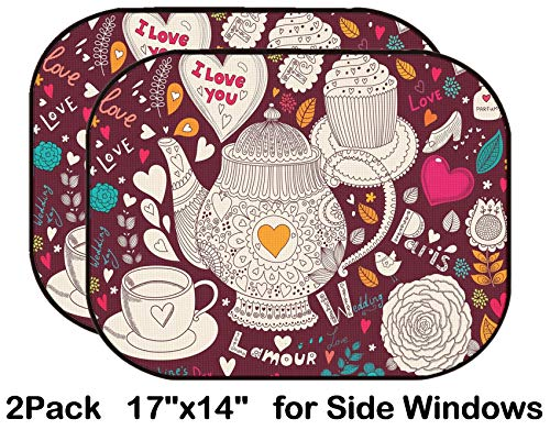 Liili Car Sun Shade for Side Rear Window Blocks UV Ray Sunlight Heat - Protect Baby and Pet - 2 Pack Image ID: 17693865 Vector Art Hand Drawn Holiday Card (Best Liili Teapots)