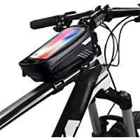 Julymoda Bike Bag for MTB Mountain Bike Cycling Waterproof with Mobile Case Touch Screen Front Top Tube for Mobile…