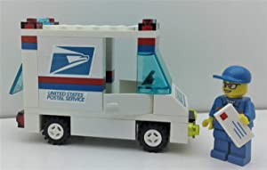 Building Toys BRICKS USPS Postal Service Mail Delivery Truck WITH 1 Minifigure