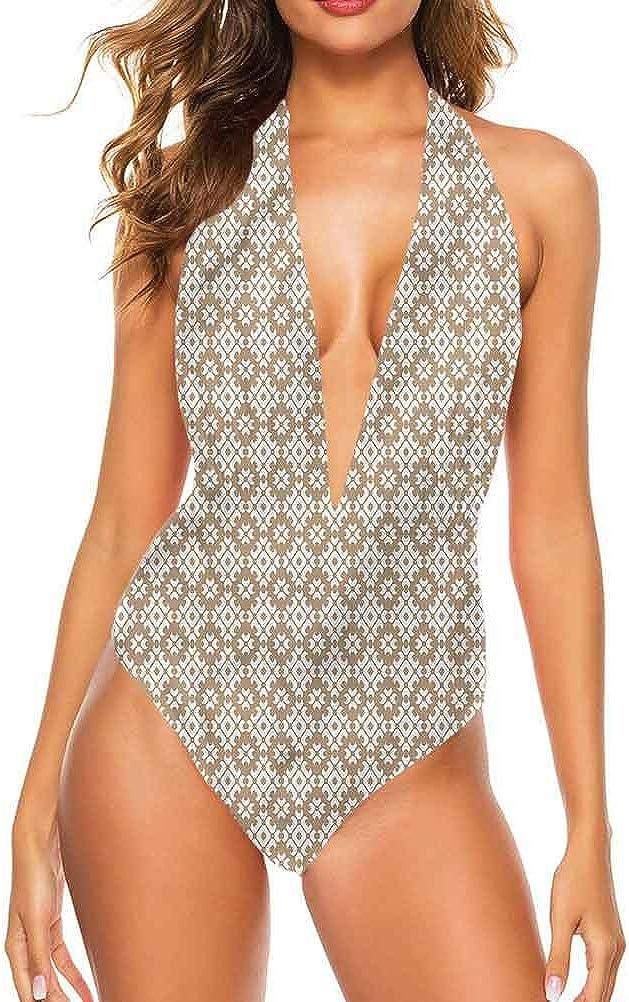Vêtements de plage pour fille beige, effet mosaïque antique pour vous faire sentir confortable/confiante Multi 15.