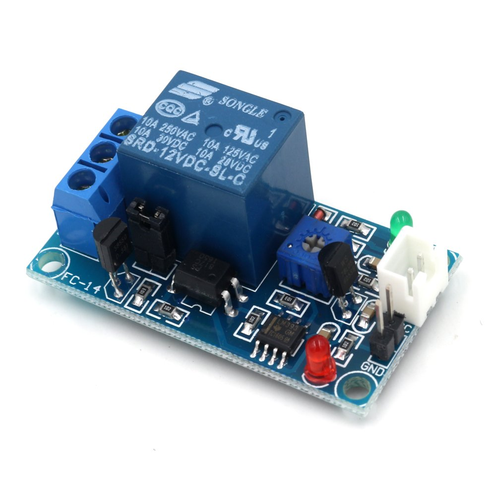 Ninetonine Dc 12v Car Led Light Control Photoresistor Plus Relay Dark Activated Module Detection Sensor Industrial Scientific