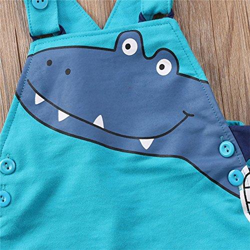 Stylesilove Baby Toddler Boy Dinosaur Cotton Overalls